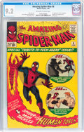 Silver Age (1956-1969):Superhero, The Amazing Spider-Man #8 (Marvel, 1964) CGC NM- 9.2 Off-white towhite pages....