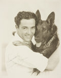 """Autographs:Celebrities, Charles """"Buddy"""" Rogers Inscribed Photograph. Sepia-toned publicityphotograph depicting American actor Charles """"Buddy"""" R..."""