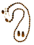 Estate Jewelry:Suites, Tiger's-Eye Quartz, Gold Jewelry Suite. ... (Total: 2 Items)