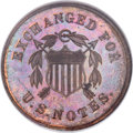 Patterns, 1863 10C Ten Cents, Judd-326, Pollock-395, Cassel-13, R.8, PR65 Red and Brown NGC....