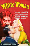 "Movie Posters:Drama, White Woman (Paramount, 1933). Full-Bleed One Sheet (26.5"" X39.75"") Style A.. ..."