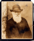 Books:Prints & Leaves, [Charles Darwin]. Large Nineteenth Century Portrait Print DepictingCharles Darwin. [n.d., circa 1885]. ...