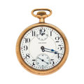 Timepieces:Pocket (post 1900), Waltham 21 Jewel Crescent St. Up/Down Pocket Watch. ...