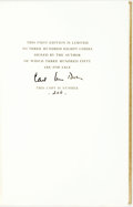 Books:Biography & Memoir, Carl Van Doren. SIGNED/LIMITED. The Great Rehearsal. New York: The Viking Press, 1948. First edition limited to ...