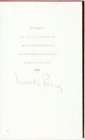 Books:Literature 1900-up, Walker Percy. SIGNED/LIMITED. The Thanatos Syndrome. NewYork: Farrar Straus Giroux, 1987. Limited to 250 numbered c...