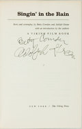 Books:Fiction, Betty Comden and Adolph Green, screenplay. SIGNED. Singin' inthe Rain. New York: The Viking Press, [1972]. Signed...