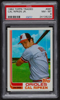 Baseball Cards:Singles (1970-Now), 1982 Topps Traded Cal Ripken Jr. #98T PSA NM-MT 8....