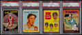 Baseball Cards:Lots, 1958 - 1975 Baseball Stars & HoFers PSA-Graded Collection (12)....