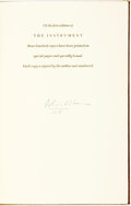 Books:Literature 1900-up, John O'Hara. SIGNED/LIMITED. The Instrument. New York: Random, 1967. First Edition. Limited to 300 numbered copies, ...