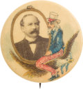 Political:Pinback Buttons (1896-present), Alton B. Parker and Uncle Sam: One of the Very Best 1904 ParkerButton Designs....