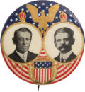 """Political:Pinback Buttons (1896-present), Wilson & Marshall: A Beautiful and Very Scarce 1¼"""" Jugate...."""