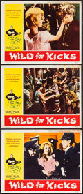 "Movie Posters:Exploitation, Wild for Kicks (Victoria Films, 1962). Lobby Cards (3) (11"" X 14"").Exploitation.. ... (Total: 3 Items)"