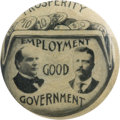 "Political:Pinback Buttons (1896-present), McKinley & Roosevelt: Great 1"" ""Change Purse"" Jugate, the Mateto the Bryan & Stevenson also Appearing in this Auction...."