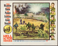"Movie Posters:War, Hell is for Heroes (Paramount, 1962). Half Sheet (22"" X 28""). War....."