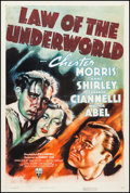"Movie Posters:Crime, Law of the Underworld (RKO, 1938). One Sheet (27.5"" X 41""). Crime....."