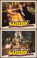 """Movie Posters:Musical, Sunny (RKO, 1941). Lobby Cards (2) (11"""" X 14""""). Musical.. ... (Total: 2 Items)"""