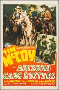 "Arizona Gang Busters (PRC, 1940). One Sheet (27"" X 41""). Western"