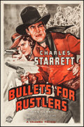 """Movie Posters:Western, Bullets for Rustlers (Columbia, 1940). One Sheet (27"""" X 41""""). Western.. ..."""