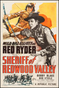 "Movie Posters:Western, Sheriff of Redwood Valley (Republic, 1946). One Sheet (27"" X 41""). Western.. ..."
