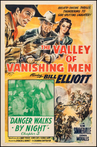"The Valley of Vanishing Men (Columbia, 1942). One Sheet (27"" X 41"") Chapter 3 --""Danger Walks By Night.&q..."