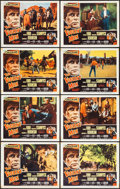 "Movie Posters:Western, The Violent Men (Columbia, 1955). Lobby Card Set of 8 (11"" X 14"").Western.. ... (Total: 8 Items)"