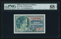 Military Payment Certificates:Series 692, Series 692 $1 PMG Superb Gem Unc 68 EPQ.. ...