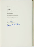 Books:Travels & Voyages, James A. Michener. SIGNED/LIMITED. Iberia: Spanish Travels and Reflections. New York: Random House, 1968. Limite...