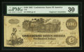 Confederate Notes:1862 Issues, T39 $100 1862 PF-13 Cr. 294/296.. ...
