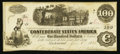 Confederate Notes:1862 Issues, T40 $100 1862 PF-20 Cr. 308 .. ...