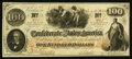 Confederate Notes:1862 Issues, T41 $100 1862 PF-22 Cr. 320A. .. ...
