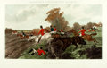 Books:Prints & Leaves, [Sporting Prints]. Large Lithographic Print Depicting Scene from aFox Hunt. London: R. Dodson, 1867. ...