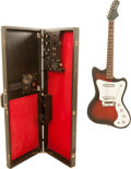 Musical Instruments:Electric Guitars, Circa 1968 Silvertone 1452 Amp-in-Case Sunburst Solid Body ElectricGuitar, Serial # 18514529....