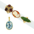 Estate Jewelry:Lots, Multi-Stone, Cameo, Gold Jewelry. ...