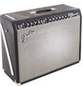 Musical Instruments:Amplifiers, PA, & Effects, 2000's Fender Twin Reverb Reissue Black Guitar Amplifier, Serial #AC077066....