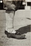 Baseball Collectibles:Photos, 1918 Shoeless Joe Jackson's Cleats Original News Photograph,PSA/DNA Type 1....