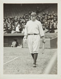 Baseball Collectibles:Photos, Circa 1920 Babe Ruth Original News Photograph by Paul Thompson, PSA/DNA Type 1....