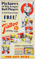 Baseball Collectibles:Others, 1933 Tattoo Orbit R305 Advertising Sign....