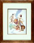 Books:Prints & Leaves, [Edgar Rice Burroughs]. [J. Allen St. John]. Framed ReproductionPrint Featuring J. Allen St. John Cover Art for the Book ...