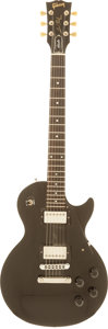 Musical Instruments:Electric Guitars, 1988 Gibson Les Paul Studio Black Solid Body Electric Guitar,Serial # 80788537....