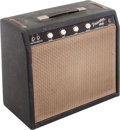 Musical Instruments:Amplifiers, PA, & Effects, 1964 Fender Princeton Black Guitar Amplifier, Serial # P08585....
