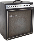 Musical Instruments:Amplifiers, PA, & Effects, 1967 Ampeg Gemini II Black Guitar Amplifier, Serial # 067115....