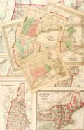 Books:Maps & Atlases, [Maps]. Group of Ten Maps with Hand-Coloring Depicting Various Northeastern States. Various publishers, circa 1857-1867. ...