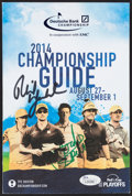 Golf Collectibles:Autographs, Phil Mickelson and Jordan Spieth Multi Signed Program Guide....