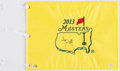 Golf Collectibles:Autographs, Adam Scott Signed Masters Flag....