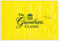 "Golf Collectibles:Autographs, Tom Watson Signed ""Greenbrier Classic"" Flag...."