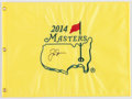 """Golf Collectibles:Autographs, Jack Nicklaus Signed """"Masters"""" Flag...."""