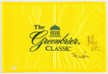 "Golf Collectibles:Autographs, Tom and Bubba Watson Multi Signed ""Greenbrier Classic"" Flag...."