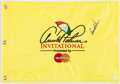"Golf Collectibles:Autographs, Arnold Palmer Signed ""Arnold Palmer Invitational"" Flag...."