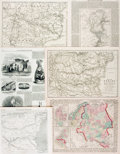Books:Maps & Atlases, [Maps]. Group of Six Maps Depicting Europe, Scandinavia and Russia. Various publishers, 1853-1877. ...