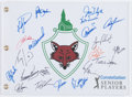 Golf Collectibles:Autographs, Senior Golf Legends Multi Signed Flag....